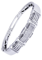 Mens Diamond Bracelet White Gold| 2.25 Carats| 38.43 Grams Men's Diamond Bracelets FROST NYC