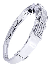 Mens Diamond Bracelet White Gold| 2.25 Carats| 38.43 Grams
