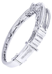 Mens Diamond Bracelet White Gold| 3.22 Carats| 41.97 Grams