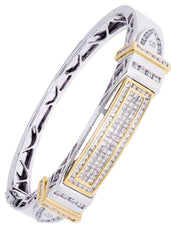 Mens Diamond Bracelet White Gold| 3.55 Carats| 55.83 Grams