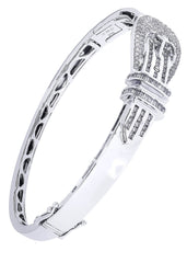 Mens Diamond Bracelet White Gold| 1.68 Carats| 26.23 Grams