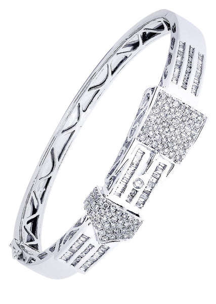 Mens Diamond Bracelet White Gold| 2.46 Carats| 33.19 Grams