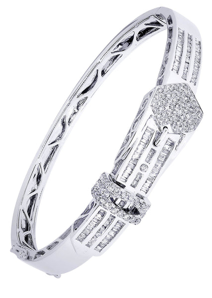 Mens Diamond Bracelet White Gold| 2.45 Carats| 29.44 Grams