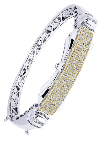 Mens Diamond Bracelet White Gold| 1.92 Carats| 37.88 Grams