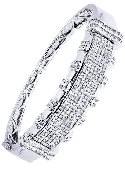Mens Diamond Bracelet White Gold| 4.43 Carats| 37.32 Grams