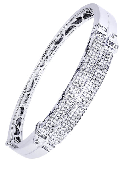Mens Diamond Bracelet White Gold| 2.35 Carats| 33.93 Grams