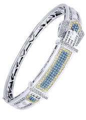 Mens Diamond Bracelet White Gold| 2.51 Carats| 40.03 Grams