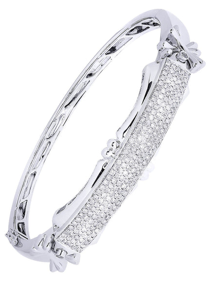 Mens Diamond Bracelet White Gold| 1.54 Carats| 33.25 Grams