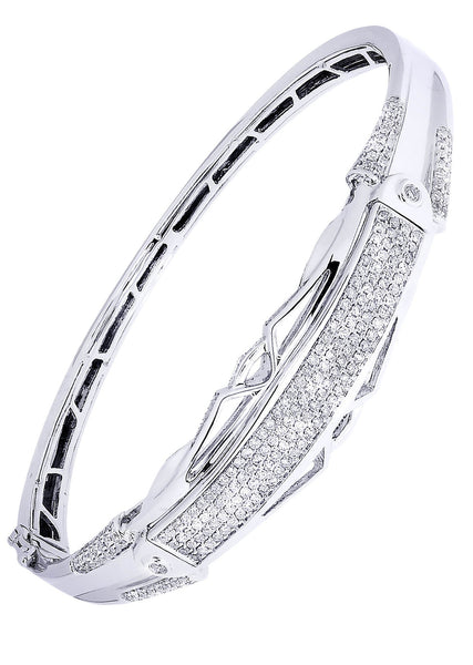Mens Diamond Bracelet White Gold| 1.76 Carats| 26.69 Grams
