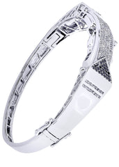 Mens Diamond Bracelet White Gold| 1.51 Carats| 32.39 Grams