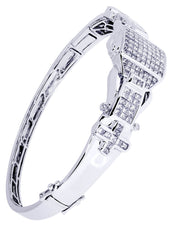 Mens Diamond Bracelet White Gold| 3.84 Carats| 29.58 Grams