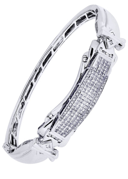 Mens Diamond Bracelet White Gold| 1.95 Carats| 33.54 Grams
