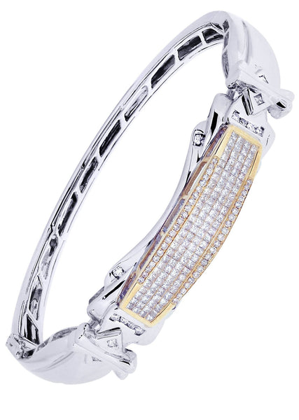 Mens Diamond Bracelet White Gold| 1.97 Carats| 33.11 Grams