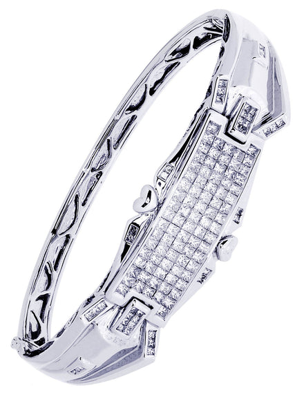 Mens Diamond Bracelet White Gold| 3.47 Carats| 31.62 Grams