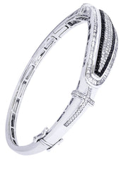 Mens Diamond Bracelet White Gold| 2.25 Carats| 29.31 Grams