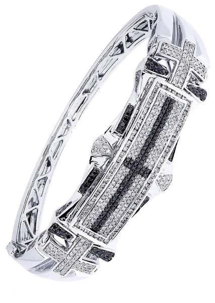 Mens Diamond Bracelet White Gold| 1.92 Carats| 40.36 Grams