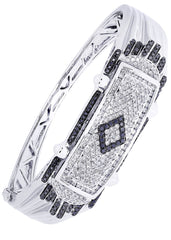 Mens Diamond Bracelet White Gold| 2.64 Carats| 50.87 Grams