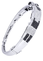 Mens Diamond Bracelet White Gold| 2.89 Carats| 35.02 Grams