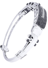 Mens Diamond Bracelet White Gold| 2.39 Carats| 36.3 Grams