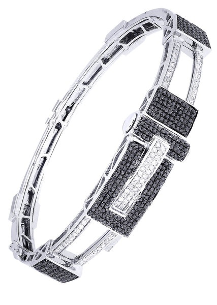 Mens Diamond Bracelet White Gold| 1.7 Carats| 30.67 Grams