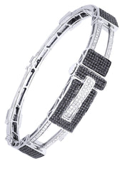 Mens Diamond Bracelet White Gold| 1.7 Carats| 30.67 Grams Men's Diamond Bracelets FROST NYC