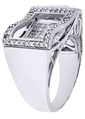 Mens Diamond Ring| 1.32 Carats| 14.04 Grams