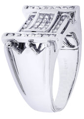 Mens Diamond Ring| 0.89 Carats| 12.3 Grams