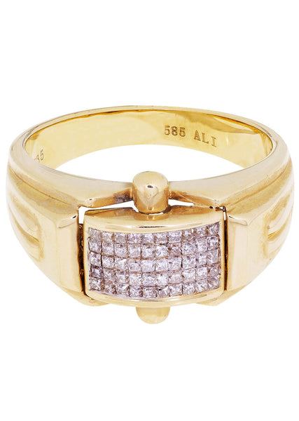 Mens Diamond Pinky Ring| 0.42 Carats| 8.48 Grams