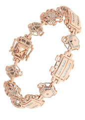 Mens Diamond Bracelet Rose Gold| 30.45 Carats| 28.8 Grams