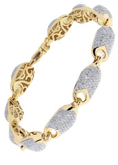 Mens Diamond Bracelet Yellow Gold| 5.58 Carats| 26.22 Grams