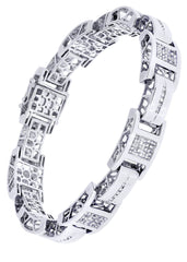 Mens Diamond Bracelet White Gold| 3.49 Carats| 41.59 Grams
