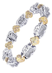 Mens Diamond Bracelet White Gold| 4.34 Carats| 46.65 Grams Men's Diamond Bracelets FROST NYC