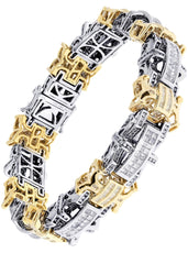 Mens Diamond Bracelet Yellow Gold| 6.77 Carats| 65.95 Grams