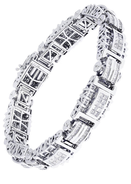 Mens Diamond Bracelet White Gold| 5.66 Carats| 54.41 Grams