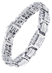 Mens Diamond Bracelet White Gold| 5.66 Carats| 54.41 Grams Men's Diamond Bracelets FROST NYC