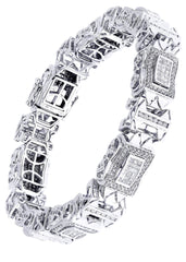 Mens Diamond Bracelet White Gold| 5.18 Carats| 56.08 Grams