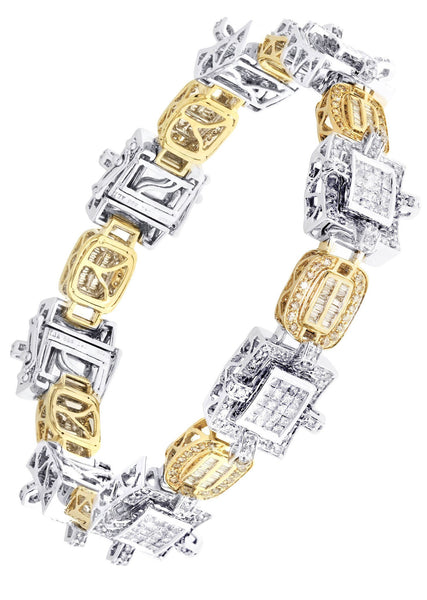 Mens Diamond Bracelet Yellow Gold| 6.22 Carats| 49.02 Grams