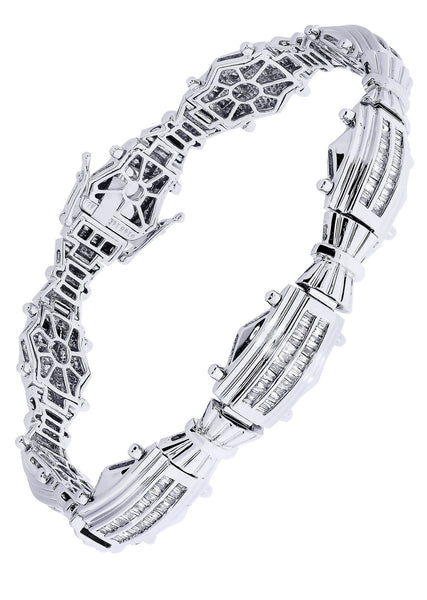 Mens Diamond Bracelet White Gold| 1.92 Carats| 31.79 Grams