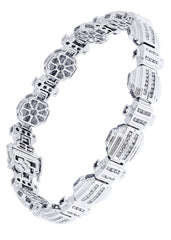 Mens Diamond Bracelet White Gold| 2.11 Carats| 39.74 Grams
