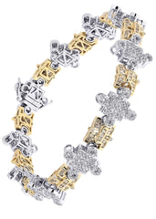 Mens Diamond Bracelet White Gold| 4.36 Carats| 38.54 Grams