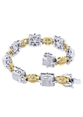 Mens Diamond Bracelet White Gold| 3.75 Carats| 45.67 Grams Men's Diamond Bracelets FROST NYC