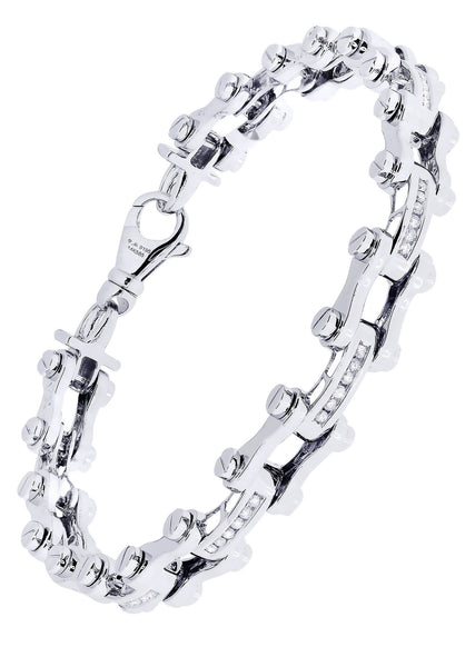 Mens Diamond Bracelet White Gold| 0.71 Carats| 33.5 Grams