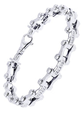 Mens Diamond Bracelet White Gold| 0.71 Carats| 33.5 Grams Men's Diamond Bracelets FROST NYC