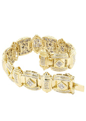 Mens Diamond Bracelet Yellow Gold| 3.31 Carats| 74.91 Grams Men's Diamond Bracelets FROST NYC