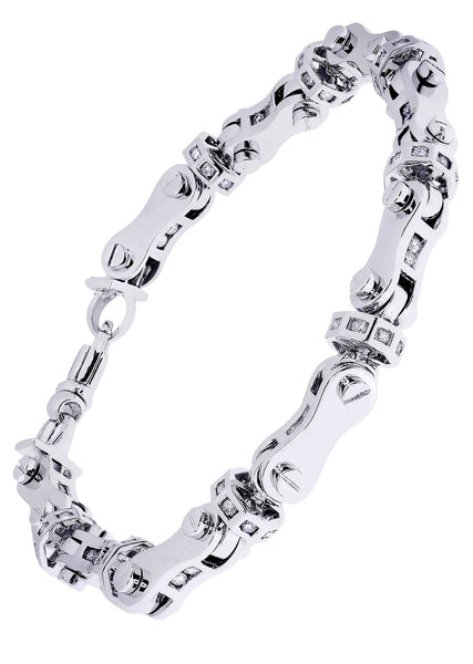 Mens Diamond Bracelet White Gold| 2.64 Carats| 48.7 Grams