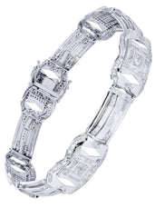 Mens Diamond Bracelet White Gold| 3.19 Carats| 26.05 Grams Men's Diamond Bracelets FROST NYC
