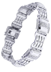 Mens Diamond Bracelet White Gold| 3.04 Carats| 27.99 Grams Men's Diamond Bracelets FROST NYC