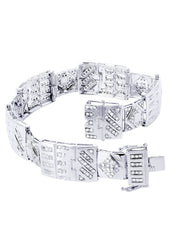 Mens Diamond Bracelet White Gold| 4.28 Carats| 32.37 Grams Men's Diamond Bracelets FROST NYC