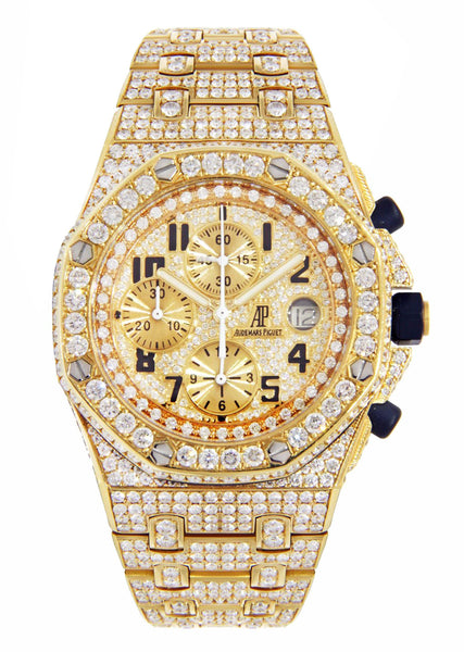 Diamond Audemars Piguet Royal Oak Offshore | 18K Yellow Gold | 42 Mm