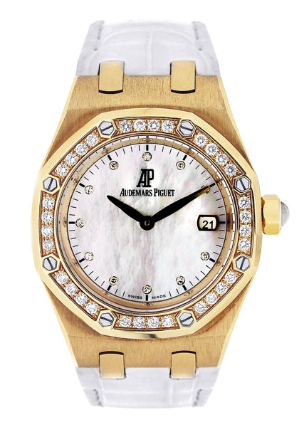 Audemars Piguet Royal Oak Watch For Women | 18K Yellow Gold | 33 Mm